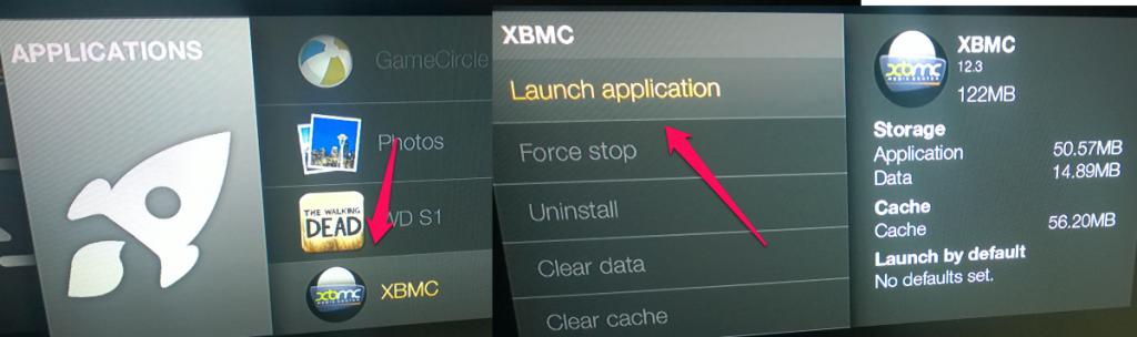 Running XBMC
